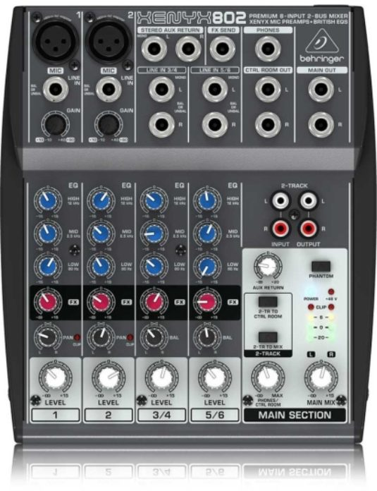 Behringer XENYX Q802 USB mikser audio