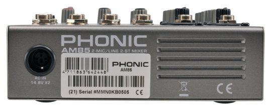 Phonic AM 85 mikser audio