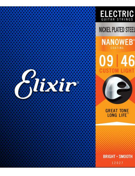 Elixir Nanoweb 9-46 struny do gitary elektrycznej