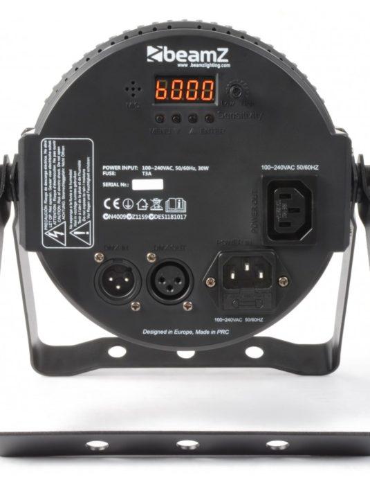 BeamZ LED FlatPAR 7 x 18W 6in1 RGBAW UV IR, reflektor PAR LED