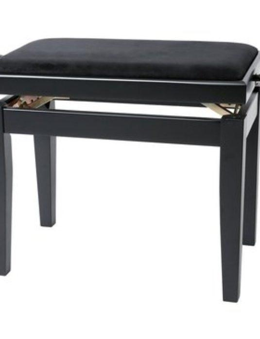 Gewa DELUXE czarny mat ława do pianina
