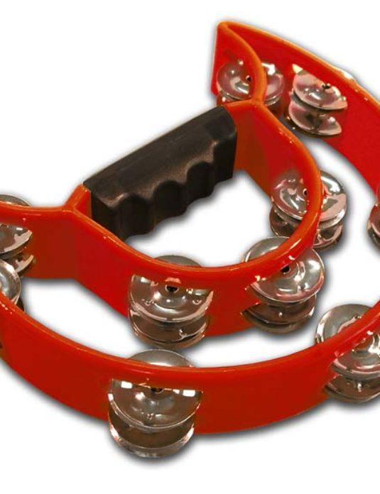 Canto MT1 tamburyn plastikowy podwójny czerwony