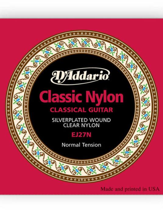 """D'Addario EJ27N Normal .28""""-.43""""  Struny do gitary klasycznej"""