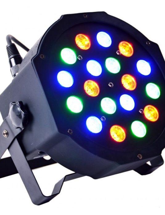 LIGHT4ME FLAT LED PAR 18x3W RGB płaski reflektor PAR LED
