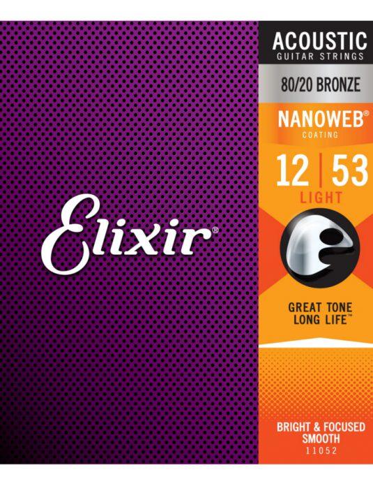 Elixir Nanoweb Bronze 12-53 struny do gitary akustycznej
