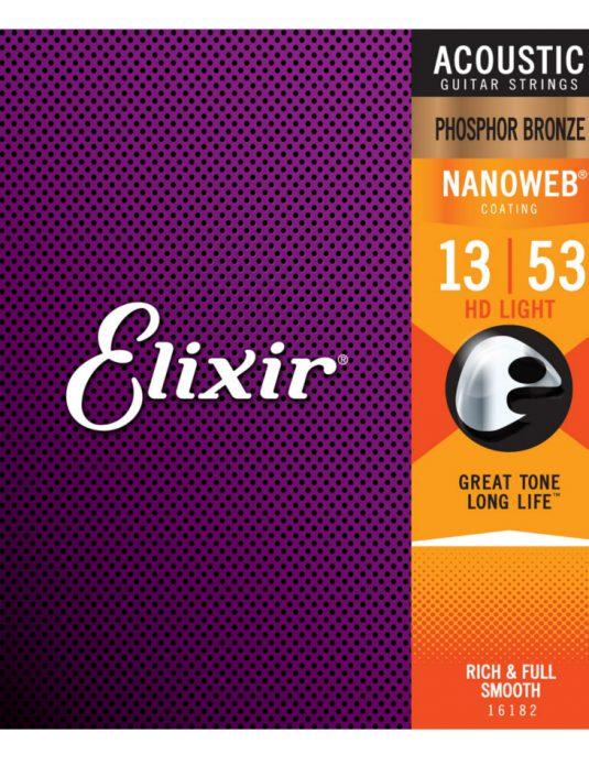 Elixir Nanoweb Phosphor Bronze 13-53 struny do gitary akustycznej