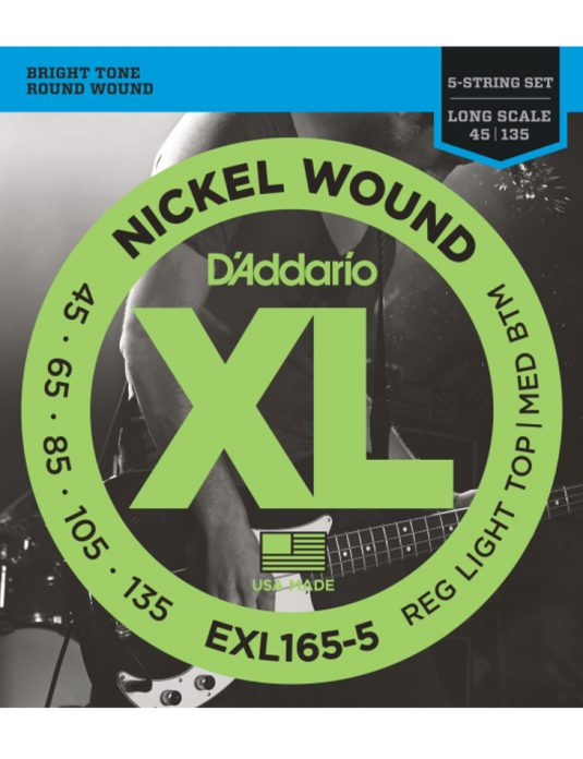 Daddario EXL165-5 45-135 struny do gitary basowej 5-cio strunowej
