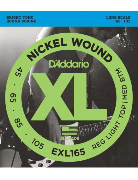Daddario EXL165 45-105 struny do gitary basowej