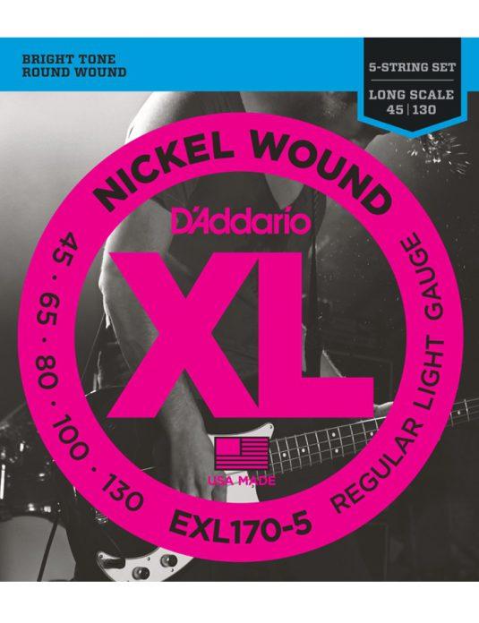 Daddario EXL170-5 45-130 struny do gitary basowej 5-cio strunowej