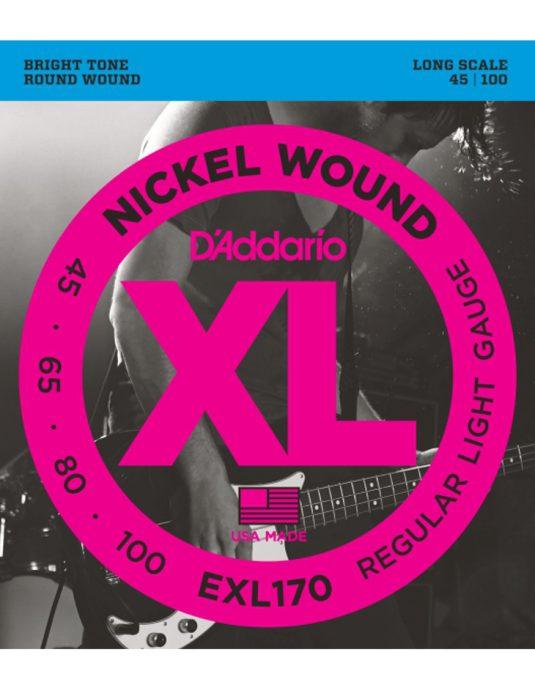 Daddario EXL170 45-100 struny do gitary basowej
