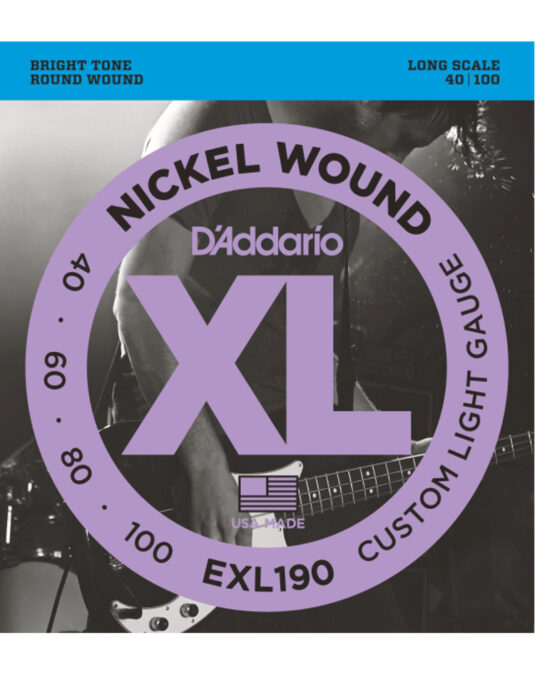 Daddario EXL190 40-100 struny do gitary basowej