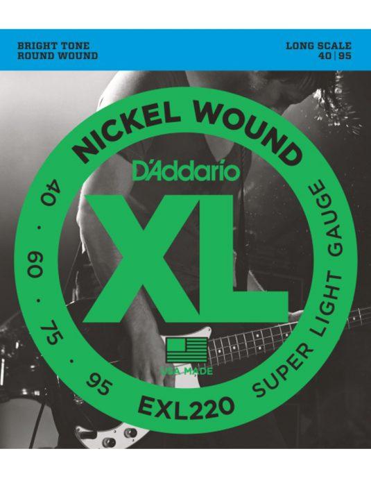 Daddario EXL220 40-95 struny do gitary basowej
