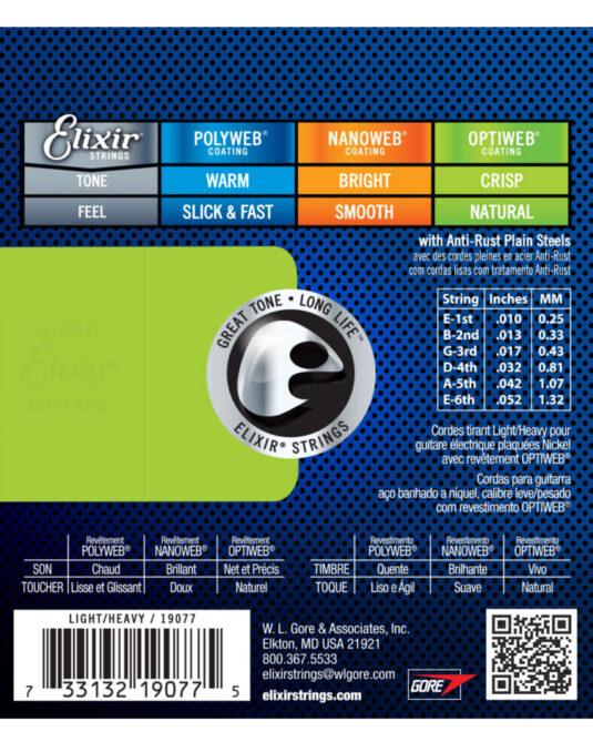 Elixir Optiweb 10-52 struny do gitary elektrycznej