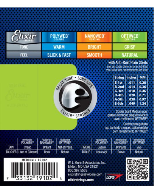 Elixir Optiweb 11-49 struny do gitary elektrycznej