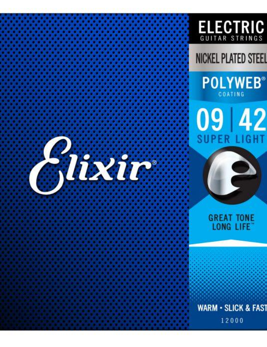 Elixir Polyweb 9-42 struny do gitary elektrycznej