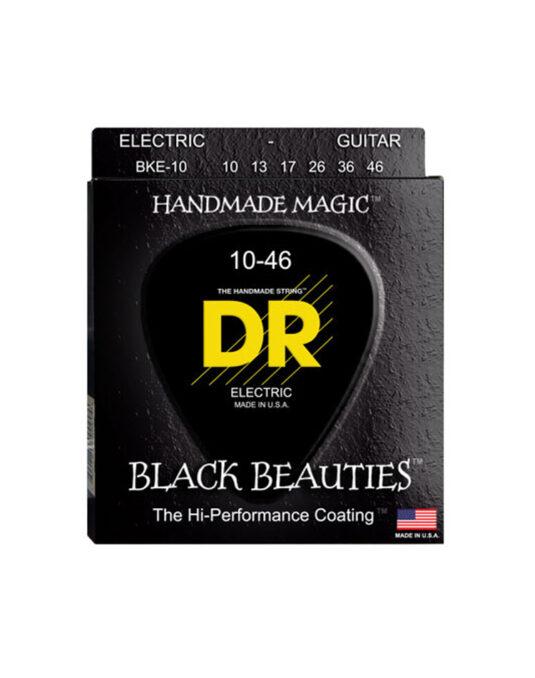 DR BKE 10-46 BLACK BEAUTIES struny do gitary elektrycznej (CZARNE)