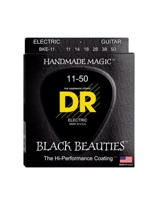 DR BKE 11-50 BLACK BEAUTIES struny do gitary elektrycznej (CZARNE)