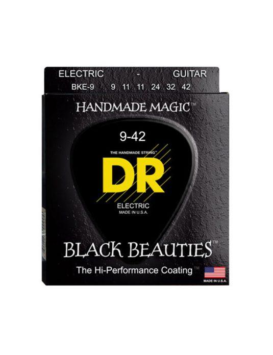 DR BKE 9-42 BLACK BEAUTIES struny do gitary elektrycznej (CZARNE)