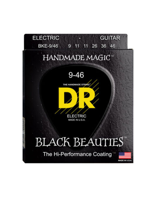 DR BKE 9-46 BLACK BEAUTIES struny do gitary elektrycznej (CZARNE)