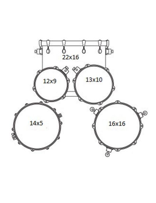 MAPEX TND5254TC DR zestaw perkusyjny seria TORNADO